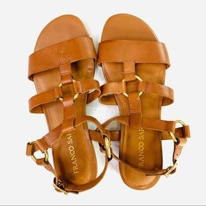 Franco Sarto Garrison Sandals Brown Leather Size 8
